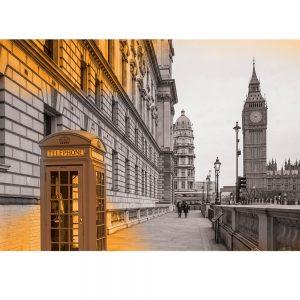 SG3833 london uk cityscape black white orange