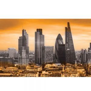 SG3834 london uk cityscape black white orange