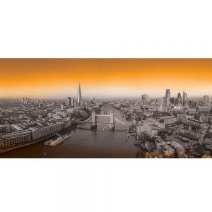 SG3835 london uk cityscape black white orange