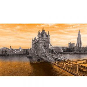 SG3836 london uk cityscape black white orange